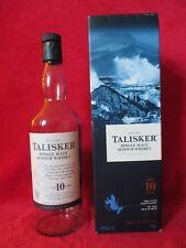 1 x talisker 10 years old single malt isle of skye scotch whisky + box box