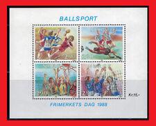 Zayix - 1988 Norway 934 Mnh souvenir sheet - Ball Sports