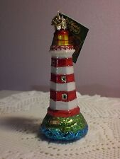 Old World Sambro, Canada Lighthouse Glass Ornament