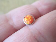 7mm Orange Lab Opal Micro Dermal TOP Body Jewelry 14g (1.6mm)