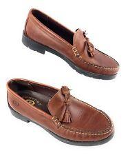 Dexter Tassel Moccasin Toe Slip On Loafer Shoes Brown Leather Men's 8.5M