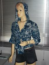 Stunning SASS & BIDE Ikat print Hooded Cropped Tie Dye Jacket   - Size 12 -