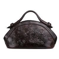 Genuine Leather QR  Vintage Women's Handbag Shoulder Bag Satchel Purse Hobo