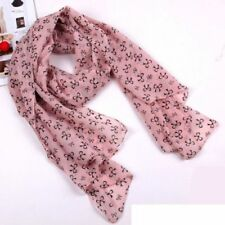 SILK BLENDED SCARF 60 INCHS LONG BY 28 INCHS WIDE PINK AND BLACK