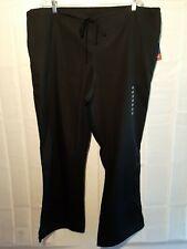 New! Cherokee Workwear Professionals Unisex Straight Leg Scrub Pants Black 2Xl