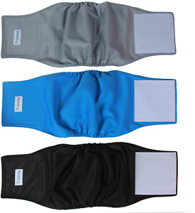 Teamoy Resuable Wrap Diapers for Male Dogs Medium Washable Waterproof Belly Band