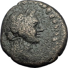 ELAIA in AEOLIS 2-1CentBC Authentic Ancient Greek Coin DEMETER & TORCH  i63110