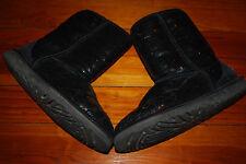 Women's Ugg Australia Black Sequin Sparkle Classic Boots (6) 3161
