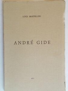 Andre' GideMartellini luigila rapida marche 1971 letteratura francia nuovo 83