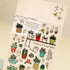 South Korea Garden Plants Flower Sticker Kids DIY Diary Album Scrapbooking Decor