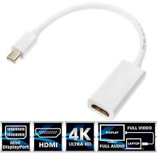 [4Kx2K] Mini DP to HDMI Thunderbolt Adapter for Apple MacBook Pro (Before 2016)