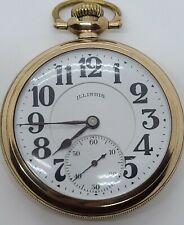 Antique 1921 ILLINOIS Bunn Special 21J Railroad Grade Gold GF Pocket Watch 16s