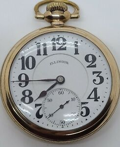Antique 1921 ILLINOIS Bunn Special 21J Railroad Grade Gold GF Pocket Watch 16s