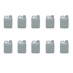 10x 1L Natural Bottle HDPE Jerry Can TE Cap Empty Plastic Chemical Food Grade