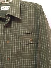Orvis Fishing 3 Pocket Button Front Shirt Mens Size Large