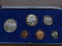 Australia.  1966 PROOF SET.   6 Coins - in Light Blue Case. Near Perfect Set