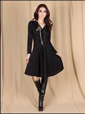 Knee Length Polyester Casual Maxi Dresses for Women