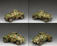 KING & COUNTRY WW2 GERMAN ARMY WS210 SD. KFZ. 222 ARMORED CAR SET NORMANDY MIB