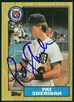 Original Autograph of Pat Sheridan of the Detroit Tigers on a 1987 Topps Card