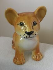 Vintage ceramic / porcelain baby Lion. Made in Italy for Joseph Magnin store