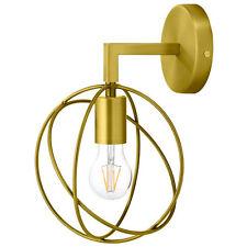MODERN BRASS WALL SCONCE LIGHT FIXTURE ORBITAL BALL ROUND METAL WIRES