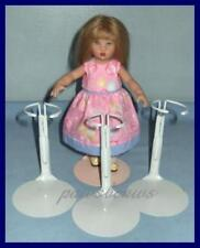 "3 White KAISER Doll Stands for 8"" Madame Alexander GINNY Riley"