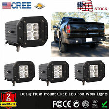 4x 20W CREE Dually Flush Mount Led Work Light For Off-Road Jeep 4WD Bumper Rock