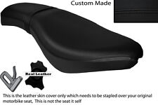 BLACK STITCH CUSTOM FITS KEEWAY SUPERLIGHT 125 11-13 DUAL LEATHER SEAT COVER
