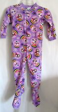 GIRLS 3T PURPLE POLAR BEAR SNOWMAN FLEECE  SLEEPER NWT ~ THE CHILDREN'S PLACE