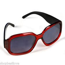 Large Burgundy Frame Dark Sunglasses [400UV]