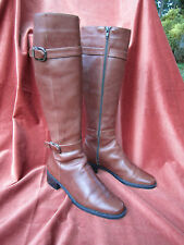 Sesto Meucci Italy Equestrian Riding Boots 9M Brown Leather zipper Beautiful