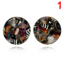 Round Acrylic Dangle Drop Earrings Geometric Ear Studs Earrings Women's JeweM7
