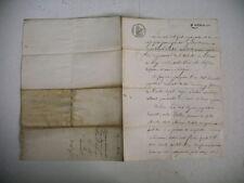 vieux papier ARDECHE timbre tampon 1824 quittance
