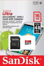 Sandisk 16GB Ultra Micro SD SDHC TF Card 48MB/s Class 10 For Smartphones/Tablets