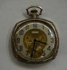 VINTAGE ELGIN  NATL WATCH AND CO 14KT POCKET WATCH 17 JEWELS