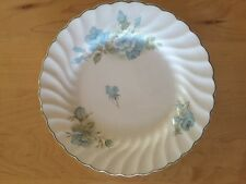 Johnson Brothers Ironstone Swirl Scalloped Blue Floral Bread Plates - Set of 6