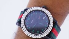 Gucci YA126229 G Timeless Black Dial Sports Watch 4.50 Carat Diamonds Live Video