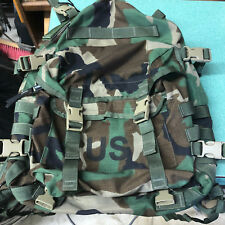 SDS Large Field Assault Pack Rucksack RARE Woodland with TAN 499 Buckles NEW