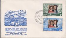 (K121-59)1972 Pitcairn IslandsFDC 24cRoyal silver wedding Anniversary(toning(BI)