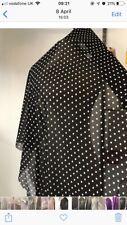 Black And White Polka Dot Chiffon