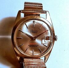 RARE Vintage Orologio da polso data VIALUX SWISS MADE