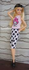 Barbie's Melody Top and Polka Dot Skirt with Booties