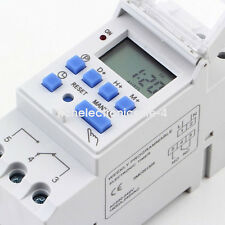 Digital LCD DIN Programmable Weekly Rail Timer AC 220V 16A Time Relay Switch i6y