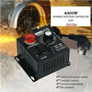AC 220V 4000W SCR Variable Voltage Regulator Speed Motor Fan Dimmer Controller