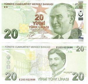 Turkey 20 Lira 2009 (2020) UNC