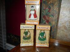 Lot 3 Jasco Lil' Chimers Heirloom Dolls Porcelain Bell Hanging Ornaments NIB BOX