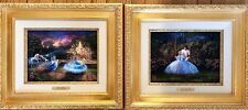 Set of 2 Thomas Kinkade Disney Cinderella 9x12 Canvas Framed Limited Ed. 1/195