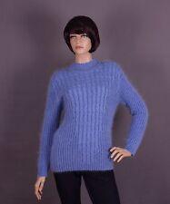 Mohair Damen Pullover, Farbe: blau und Größe: L oder XL (nach Wahl)