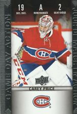 2019/2020 HOCKEY CARD TIM HORTONS - CAREY PRICE  GAME DAY ACTION HGD-2