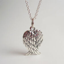 Women Angel Wings Silver Pendant Charms Wing Necklace Retro Chain Jewelry